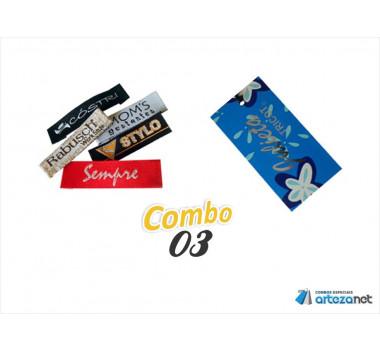 Combo Artezanet 03: 1.000 Etiquetas Tags + 1.000 Etiquetas Bordadas