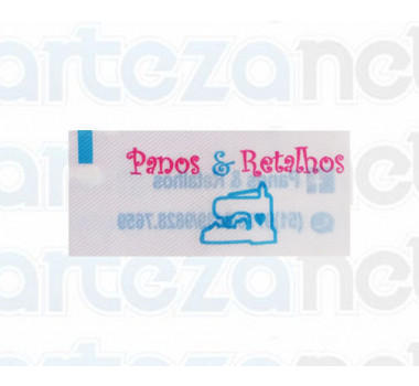 Etiqueta Estampada Personalizada em Cetim, 20x45 mm