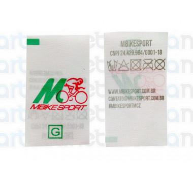 Etiqueta Estampada Personalizada em Nylon Resinado, 25x45 mm