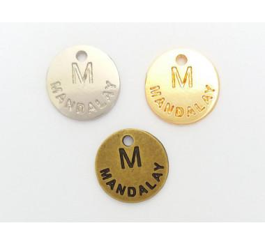 Etiqueta em Metal Personalizada, Redonda