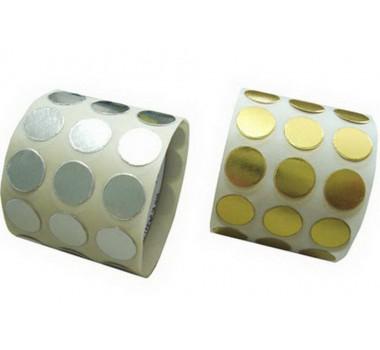 Lacre Ouro/Prata 10mm, Rolo com 100 Etiquetas