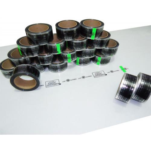 Fita Adesiva Transparente Personalizada, Caixa com 20 rolos