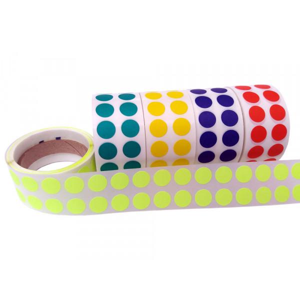 Etiqueta Adesiva de Controle, Bolinha Colorida de 10mm, 16 Cores Diferentes