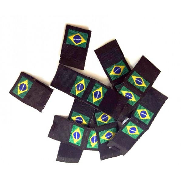Etiqueta bordada bandeira do Brasil