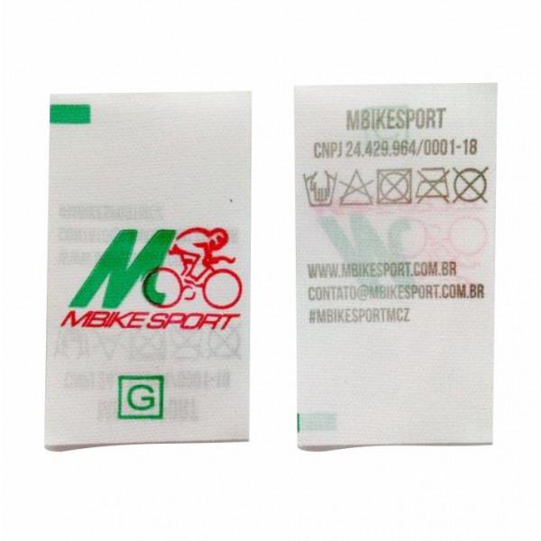 Etiqueta Estampada Personalizada em Nylon Resinado, 25 mm de Largura, Composição do Tecido e Logo