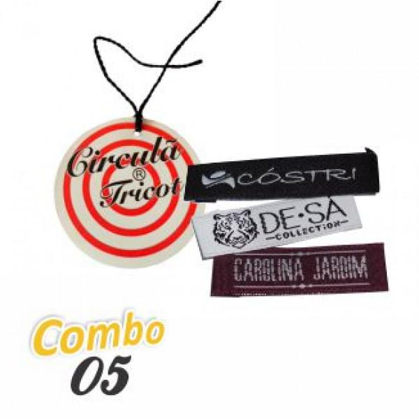 Combo Artezanet 05:  2.000 Etiquetas Tags + 2.000 Etiquetas Bordadas