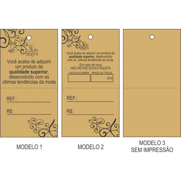 Tag Kraft 40x75 mm, Pacote com 1.000 etiquetas