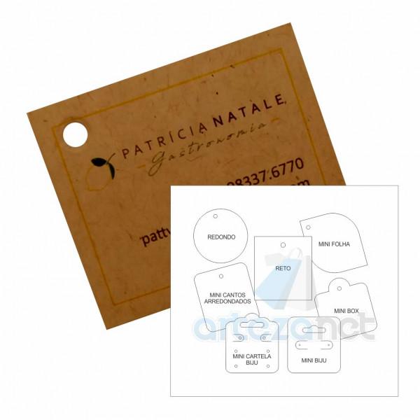 Etiqueta Tag Personalizada, Papel Kraft 300g, 45x50mm
