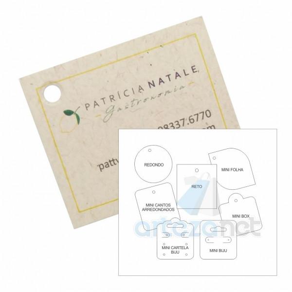 Etiqueta Tag Personalizada, Papel Reciclado 250g (Ecológico), 45x50mm