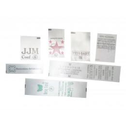 Etiqueta Estampada Personalizada em Cetim, 25 mm de Largura