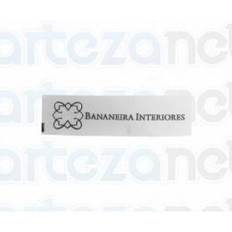 Etiqueta Estampada Personalizada em Cetim, 15x45 mm
