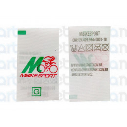 Etiqueta Estampada Personalizada em Nylon Resinado 25x45 mm
