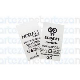 Etiqueta Estampada Personalizada em Nylon Emborrachado 25x45mm
